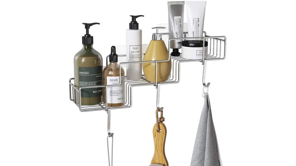 Photo of Clean bathrooms and kitchens! Functional and smart wall-mounted stainless steel rack