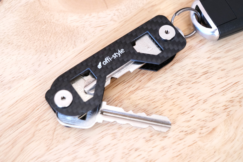"""Photo of If you have a """"carbon key organizer"""", the key won't stick in your pocket or bag"""