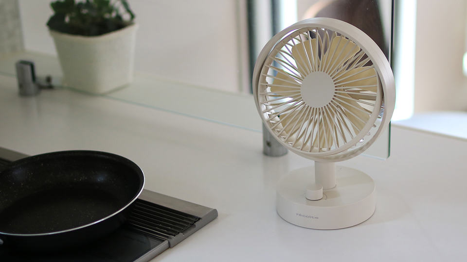 """Photo of A """"just right"""" cordless fan that you want to take with you around the house"""