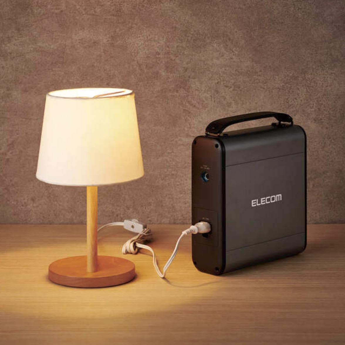 ポータブル電源「DE-AC05-60900BK」とライト