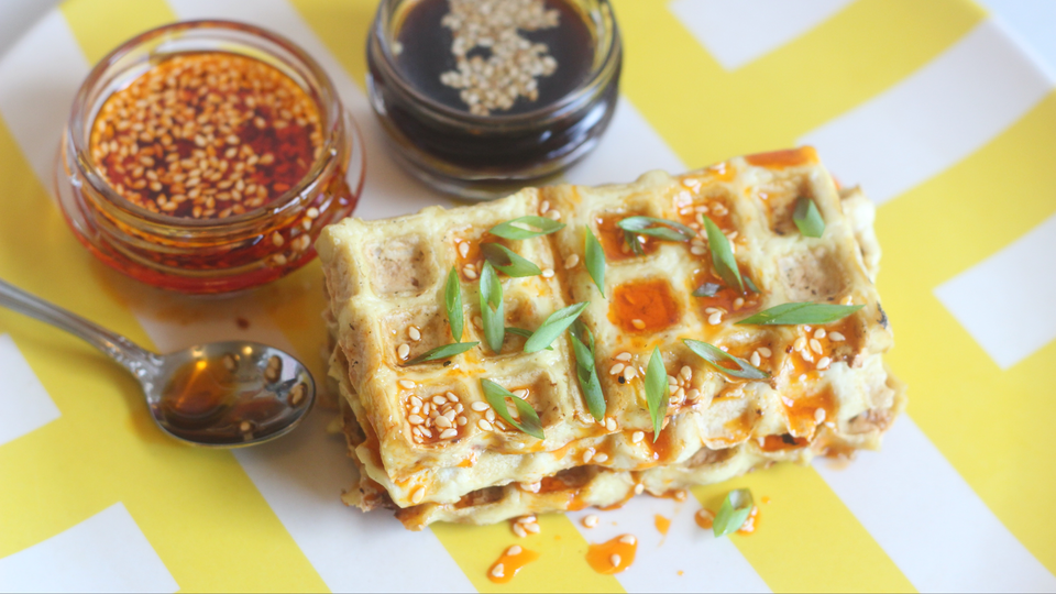 Photo of It is healthy and has an excellent texture. It was great to bake tofu with a waffle maker