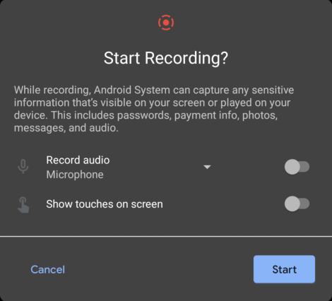 Androidで画面を録画する方法