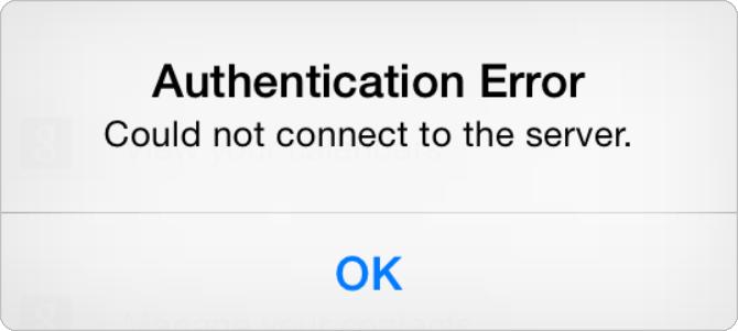iCloudにサインインしようとすると認証エラーが出る