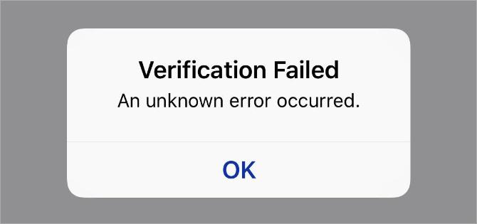 iCloudにサインイン/アウトする時に検証に失敗する