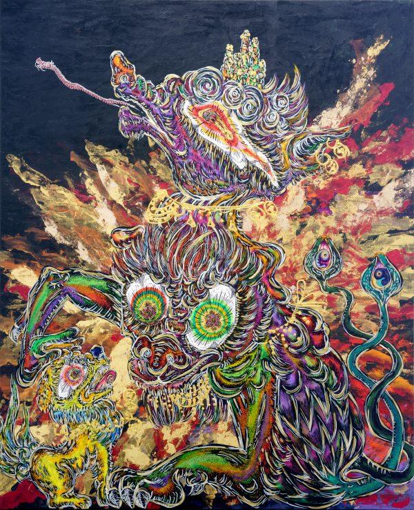 今最も注目されるアーティスト、小松美羽。日本のアートシーンと「大和力」を語る