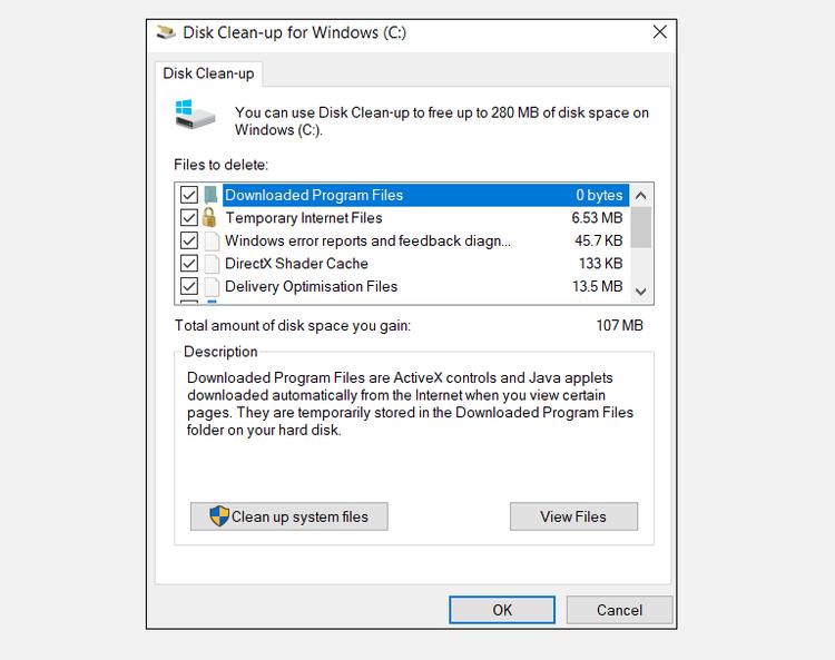 windows-free-space