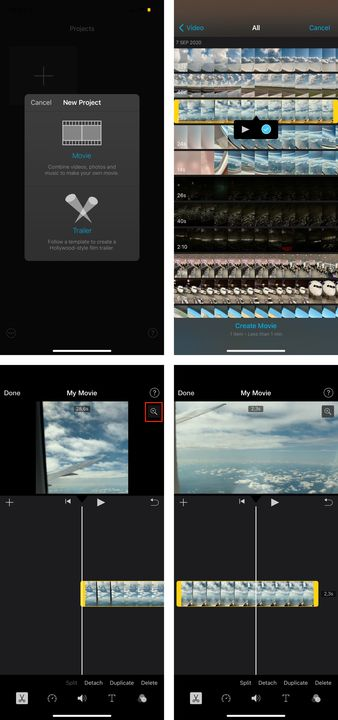 creating-a-new-project-on-iMovie