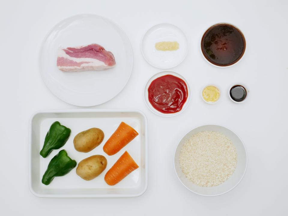 「豚肉のBBQライス」の材料