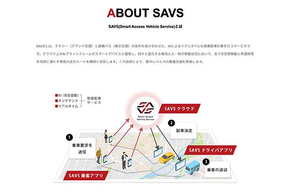SAVSのサービスについて