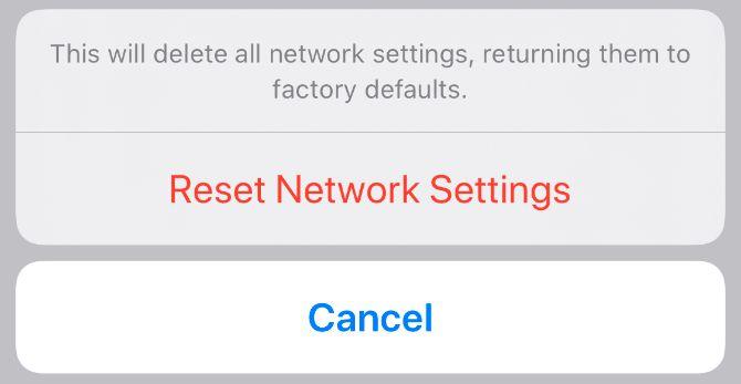 ネットワーク設定をリセット