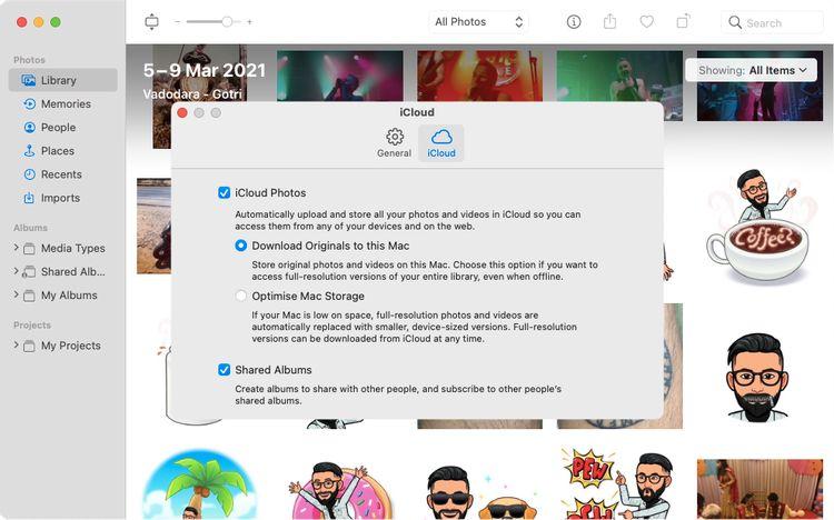 iCloudの環境設定