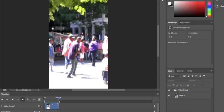 Photoshop-crop-video