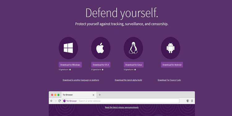 Torの画面イメージ