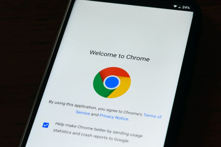 Welcome to Chromeの画面