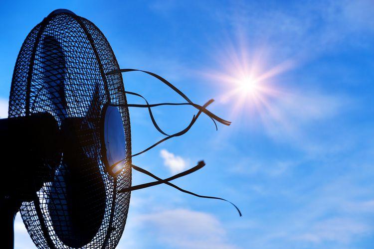扇風機と太陽