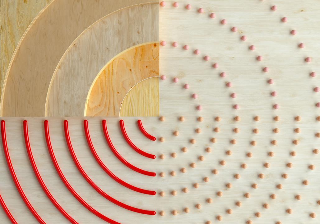 点と線で作られた円