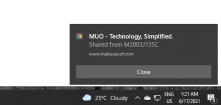 パソコンの通知