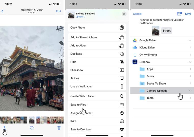 ファイルアプリの写真の転送方法