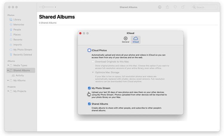 Macのマイフォトストリームの設定
