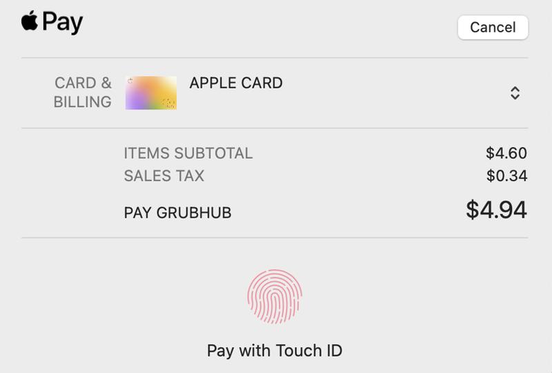 ApplePayでのTouchIDの利用