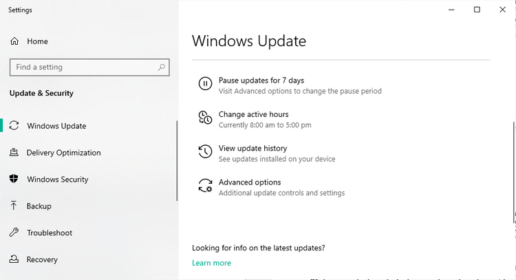 WindowsUpdateのオプション