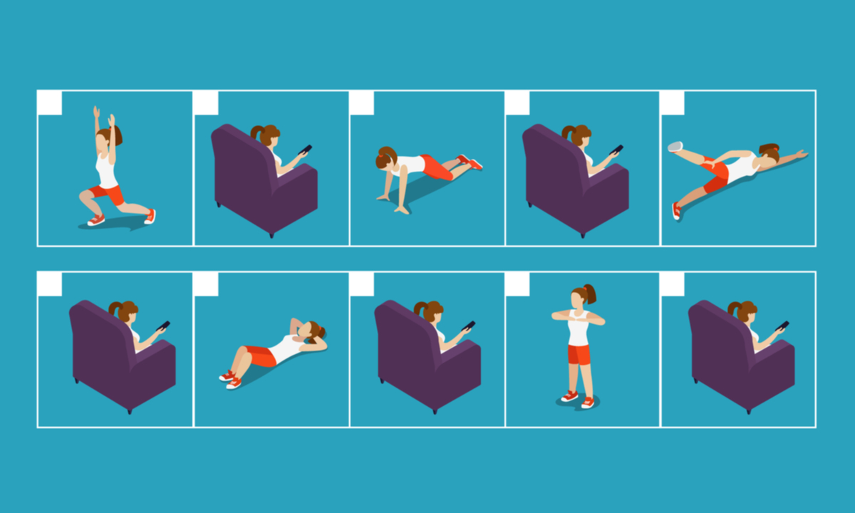 運動と休息が交互にあるカレンダー的なイラスト