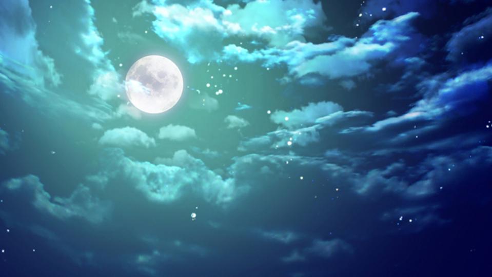 エメラルドグリーンの夜空