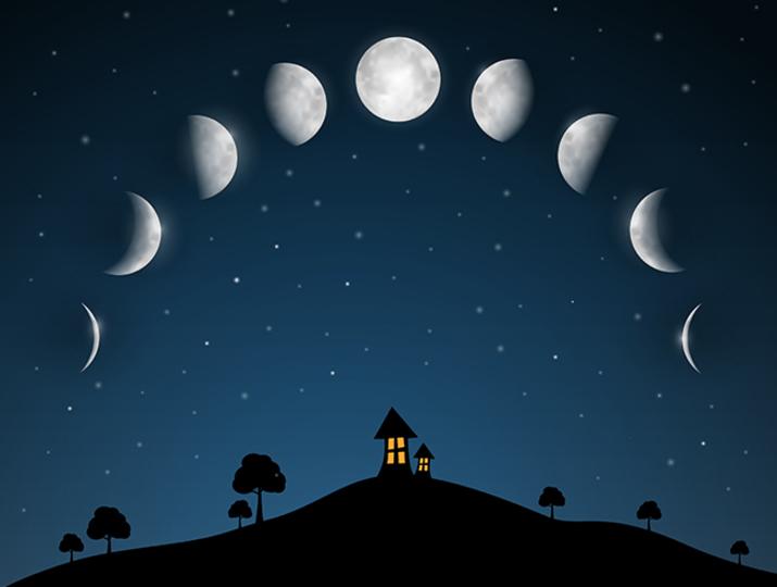 月の変化と家