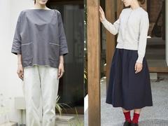 まさに温故知新。着物のような「直線裁ち」でつくられた、美しい曲線の服