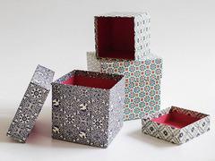 手作りギフトが映える。伝統的な紙でつくられたオリジナルボックス