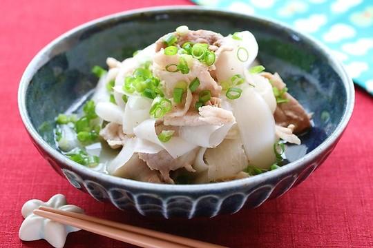 10分で簡単おかず、薄切り大根と豚肉のさっと煮