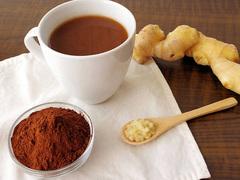 ポッコリお腹を解消させる、生姜とココアの最強コンビ