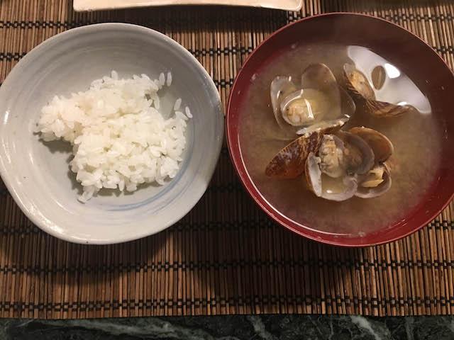 18.5.16夜あさりの味噌汁