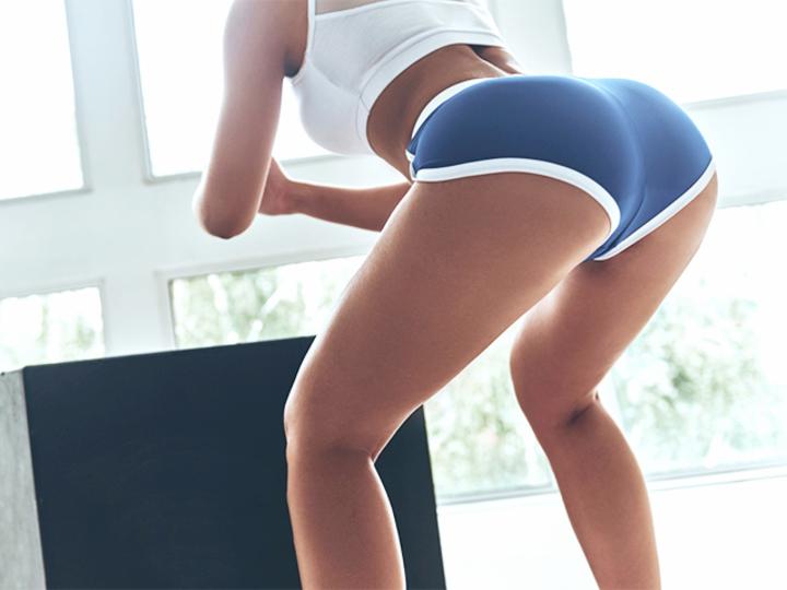 お尻と太ももの境界線がくっきり! 美尻トレーニング体験