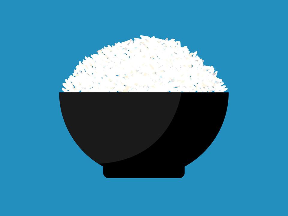 茶碗と白米