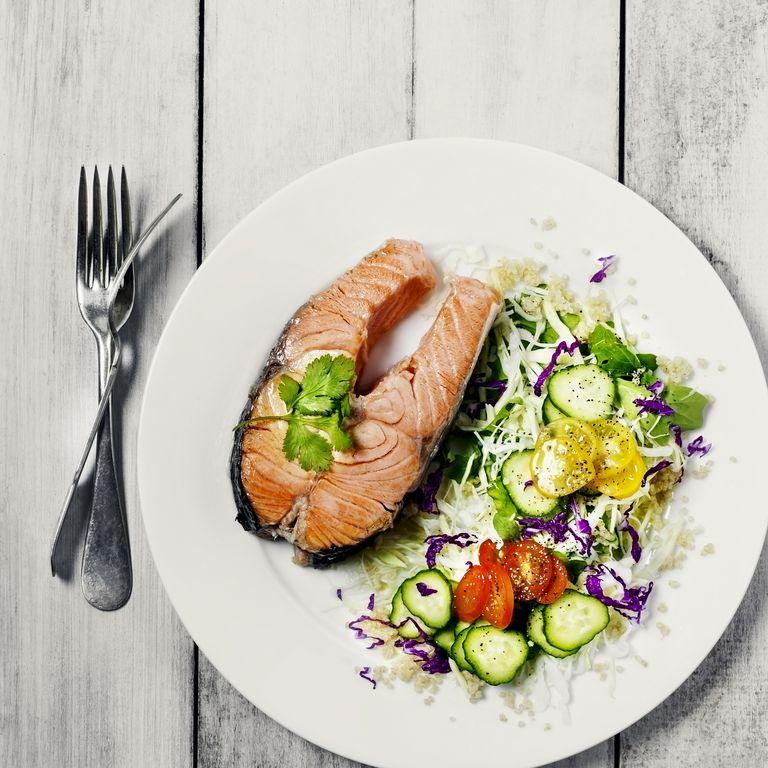 サーモンと野菜
