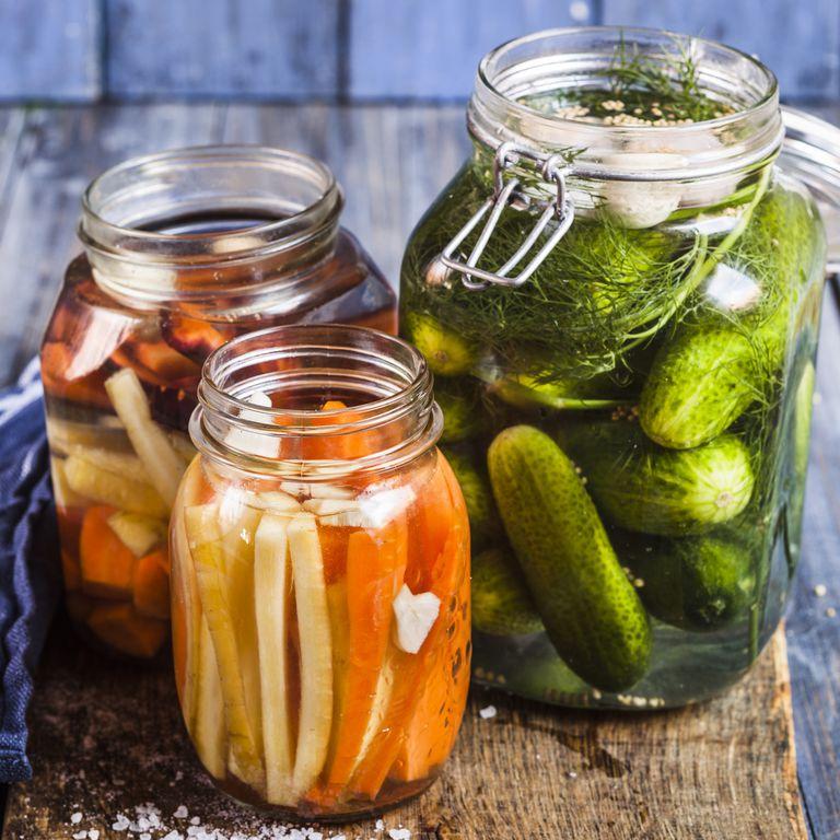 瓶詰めの野菜