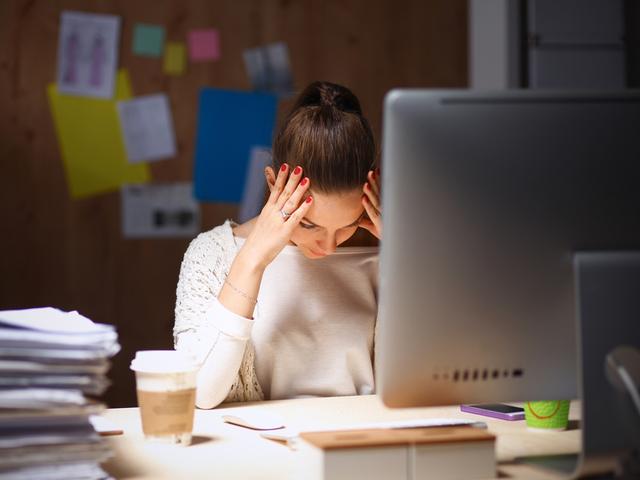 ストレスのある女性