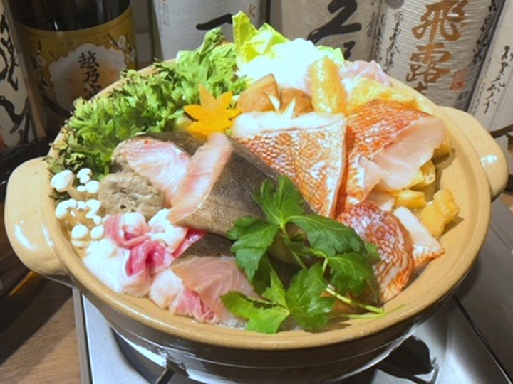 骨取り干物(しまほっけ・赤魚)絶品だしちゃんこ鍋