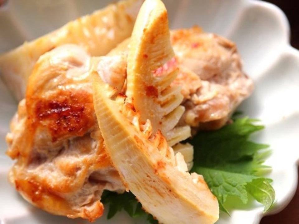 鶏肉とたけのこのヨーグルトグリル