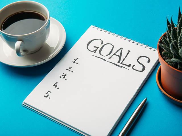 目標を書き込むノート