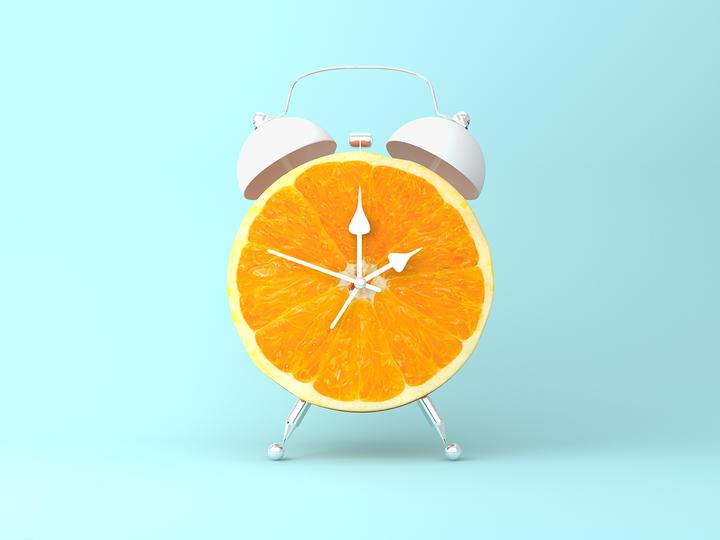 オレンジの時計