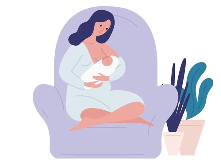 授乳する女性