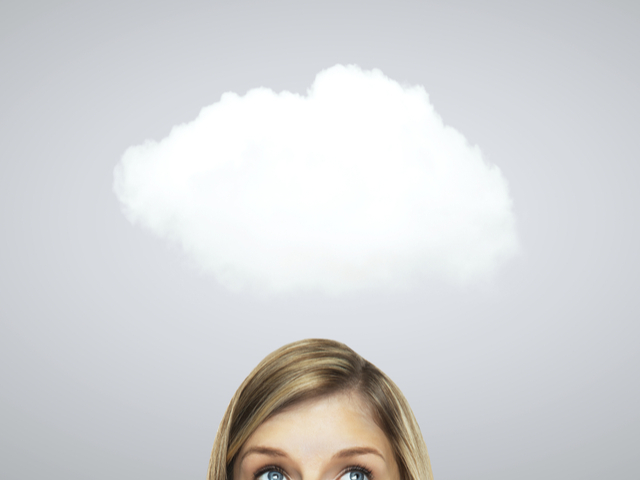 頭の上に雲