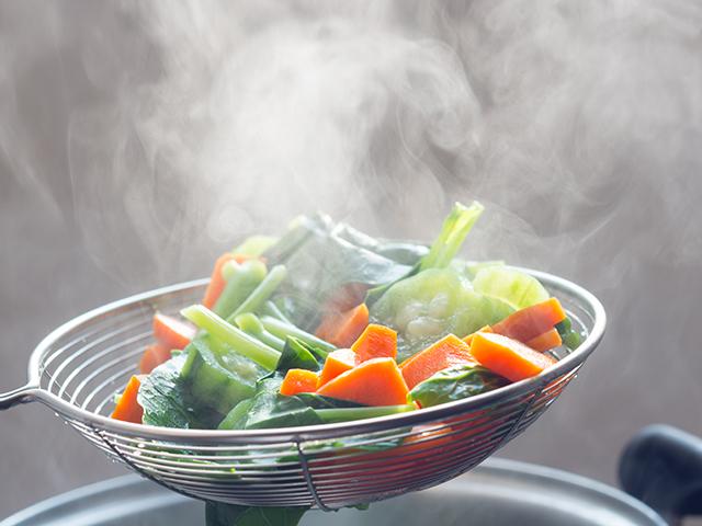 茹でた野菜