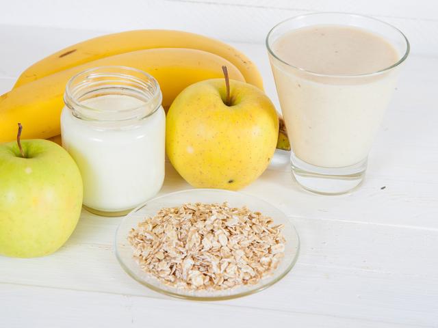 牛乳とフルーツ