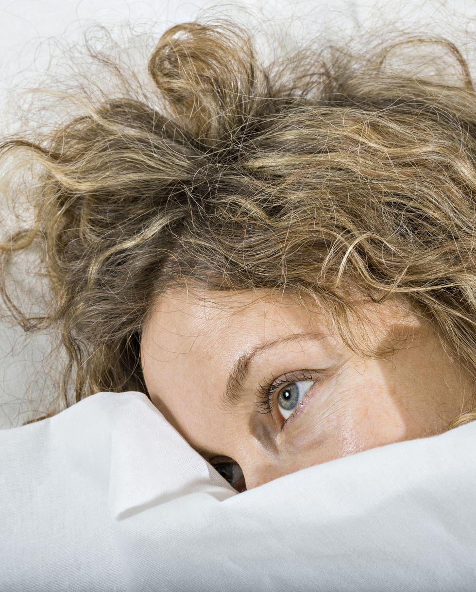 起きた女性