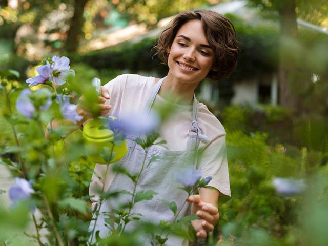 園芸をする女性