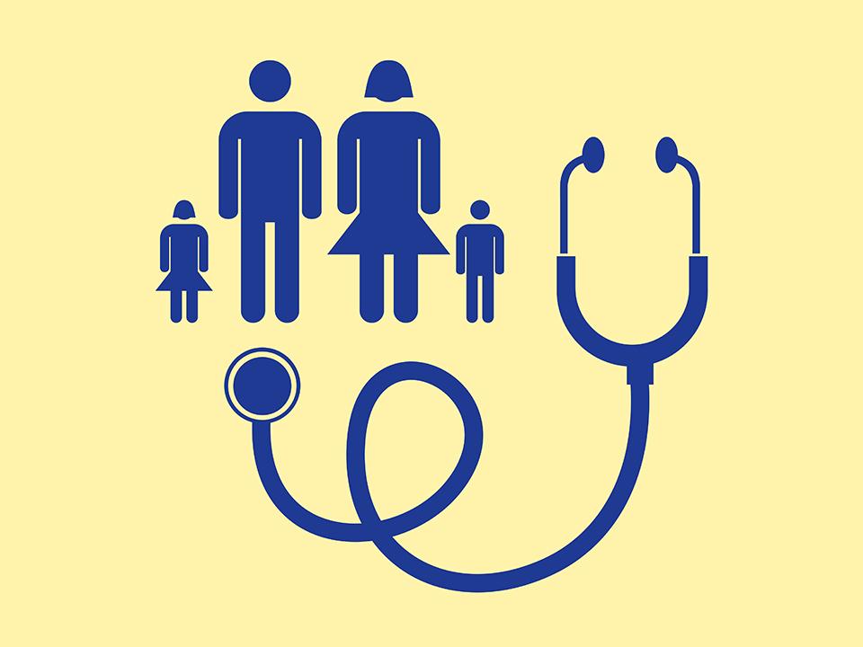 聴診器と家族