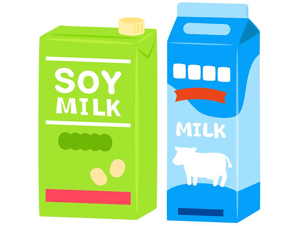 豆乳と牛乳